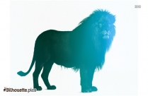 Lion Drawing Silhouette Image And Vector Illustration