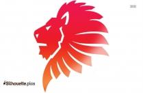 Lion Head Clip Art, Silhouette Image