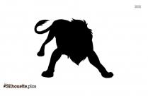 Free Lion Cartoon Silhouette