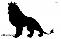 King Of The Jungle Silhouette Clip Art