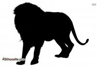Cartoon Lion Drawings Silhouette