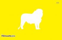Cartoon Lion Silhouette, Zoo Animal Clipart