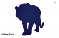 Lion Outline Clip Art Silhouette
