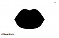 Lips Symbol Silhouette Free Vector Art