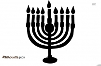 Lit Candles Free Clip Art Silhouette