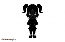 Toddler Baby Girl Vector Silhouette