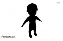 Cartoon Boy Silhouette Vector