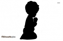 Little Boy Praying Silhouette