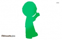 Man Waving Silhouette Picture