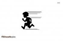 Running Girl Clip Art Silhouette