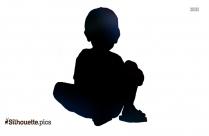 Little Boy Hands Up Silhouette
