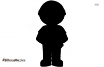 Boy Carrying Books Silhouette