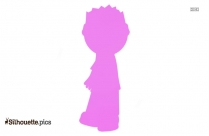 Cartoon Boy Drawing Silhouette Image