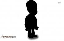 Boy Silhouette, Cartoon Boy Standing Clipart