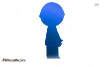 Cartoon Boy Standing Silhouette Background