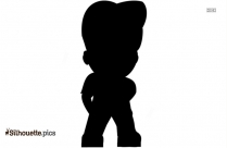 Boy Standing Clipart Silhouette