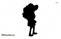 Cartoon Boy Running Silhouette