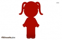 Cartoon Girl Silhouette Vector And Graphics Download