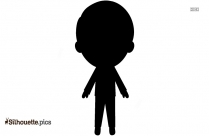 Little Boy With Balloon Silhouette Background