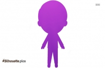 Little Cartoon Guy Silhouette Picture