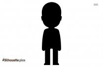 Funny Cartoon Kid Silhouette Illustration