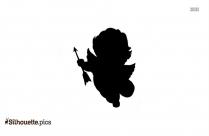 Cute Little Cupid Silhouette