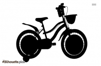 Little Girl Bike Bicycle Silhouette Free Vector Art