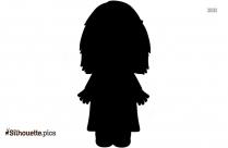 Little Girl Cartoon Silhouette