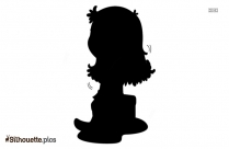 Little Girl Reading Silhouette Free Vector Download