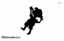 Little Girl Falling Silhouette