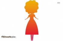 Free Cartoon Girl Silhouette Image