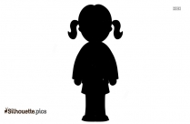 Little Girl Silhouette Free Vector Art