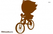 Girl Trek Bicyle Silhouette Image