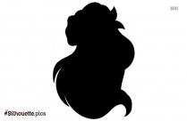 Little Mermaid Silhouette Clipart Image