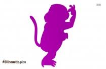 Little Monkey Silhouette Image