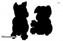 Cartoon Fox Silhouette