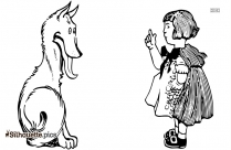Little Red Riding Hood And Wolf Silhouette Drawings