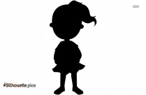 Girl With Flowers Silhouette Illustration