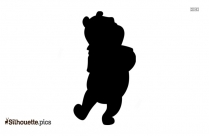 Little Winnie The Pooh Silhouette Free Vector Art