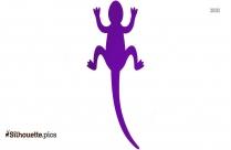 Cartoon Lizard Silhouette Background