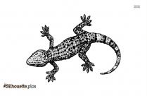 Cartoon Iguana Silhouette Clipart