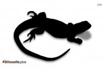 Black Lizard Drawing Silhouette Image