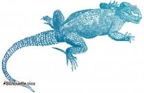 Caiman Lizard Silhouette Clipart