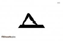Lizard Pose Yoga Symbol Silhouette