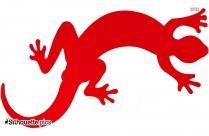 Lizard Silhouette Illustration