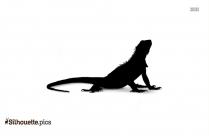 Lizard Silhouette Drawing