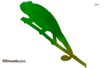 Frilled Lizard Silhouette Image And Vector