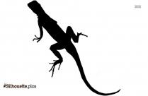Cartoon Lizard Drawing Silhouette Vector