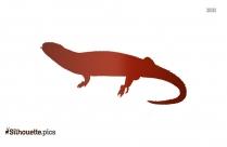 Caiman Lizard Illustration Silhouette