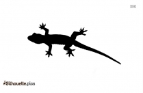 Lizard Silhouette Image Vector